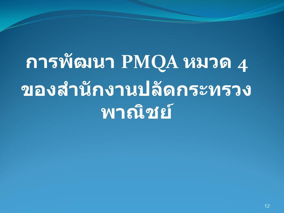การพัฒนา PMQA หมวด 4 ของสำนักงานปลัดกระทรวง พาณิชย์ 12