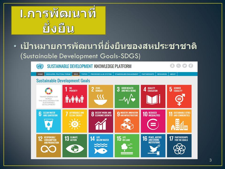 เป้าหมายการพัฒนาที่ยั่งยืนของสหประชาชาติ เป้าหมายการพัฒนาที่ยั่งยืนของสหประชาชาติ (Sustainable Development Goals-SDGS) 3