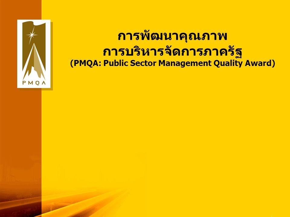 13 การพัฒนาคุณภาพ การบริหารจัดการภาครัฐ (PMQA: Public Sector Management Quality Award)