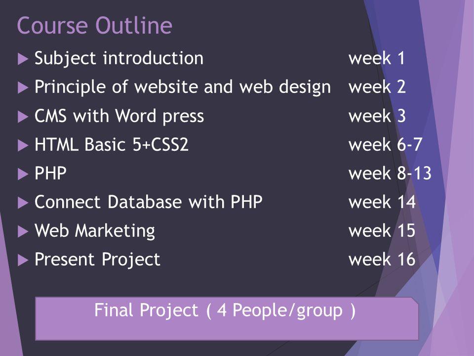 CIS210 – 1/2558 WeekDaysubjectDetail Week1 20 ส.ค.57 introductioncreate blogger Week2 27 ส.