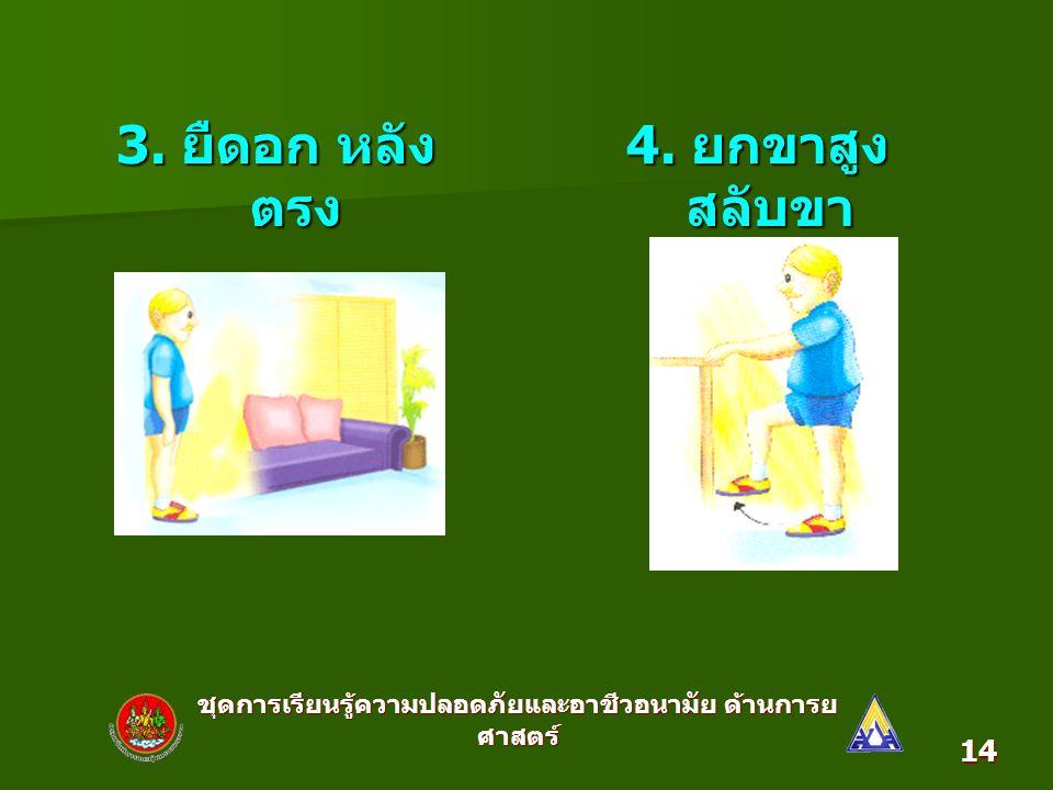 ชุดการเรียนรู้ความปลอดภัยและอาชีวอนามัย ด้านการย ศาสตร์ 14 3.