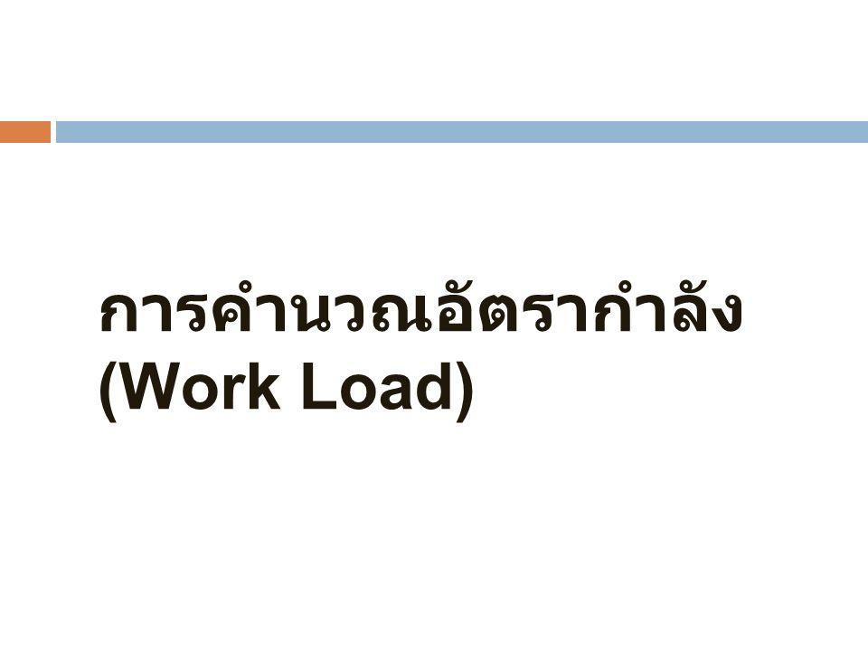 การคำนวณอัตรากำลัง (Work Load)