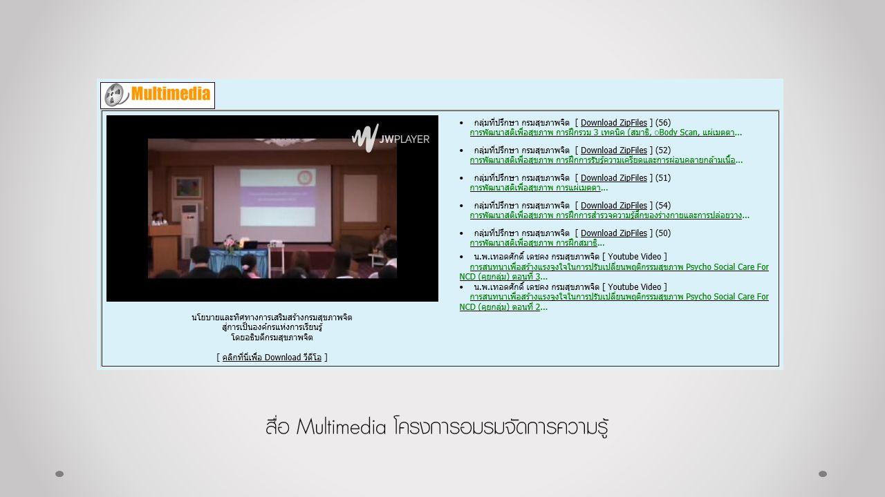 สื่อ Multimedia โครงการอมรมจัดการความรู้