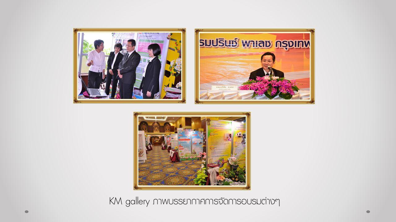 KM gallery ภาพบรรยากาศการจัดการอบรมต่างๆ
