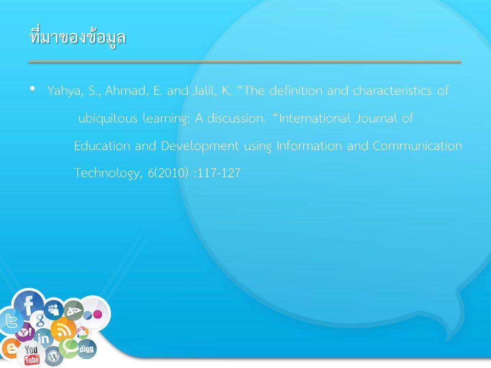 ที่มาของข้อมูล Yahya, S., Ahmad, E. and Jalil, K.