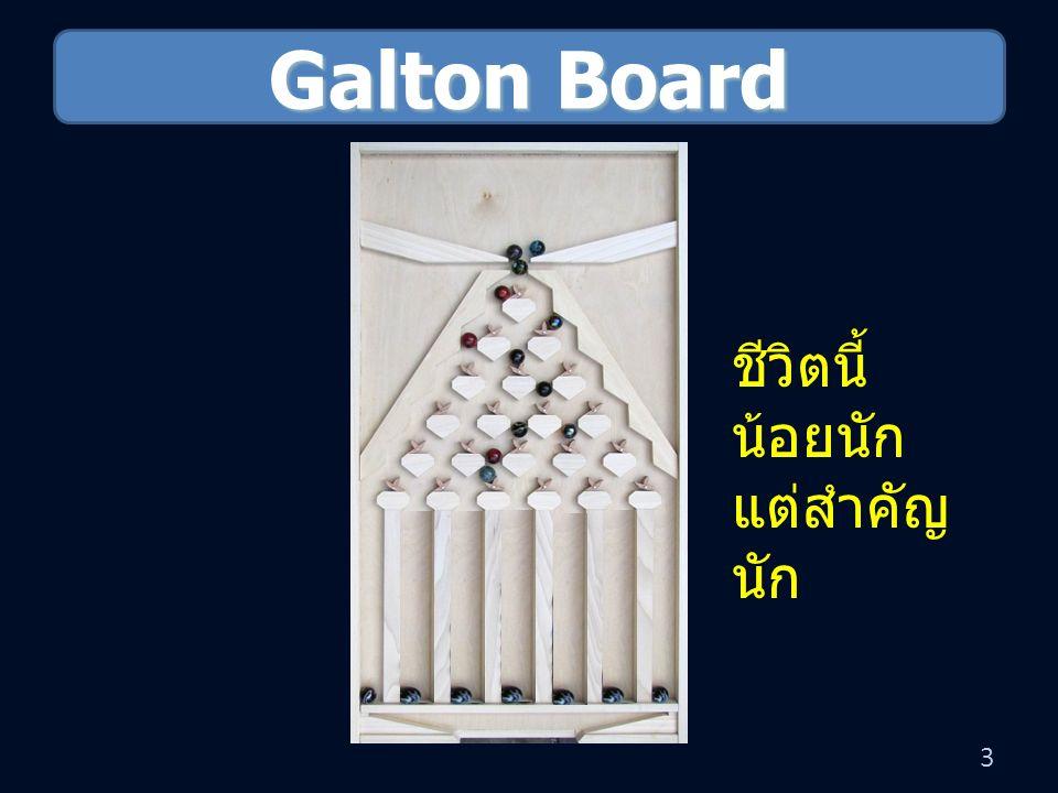 Galton Board 3 ชีวิตนี้ น้อยนัก แต่สำคัญ นัก