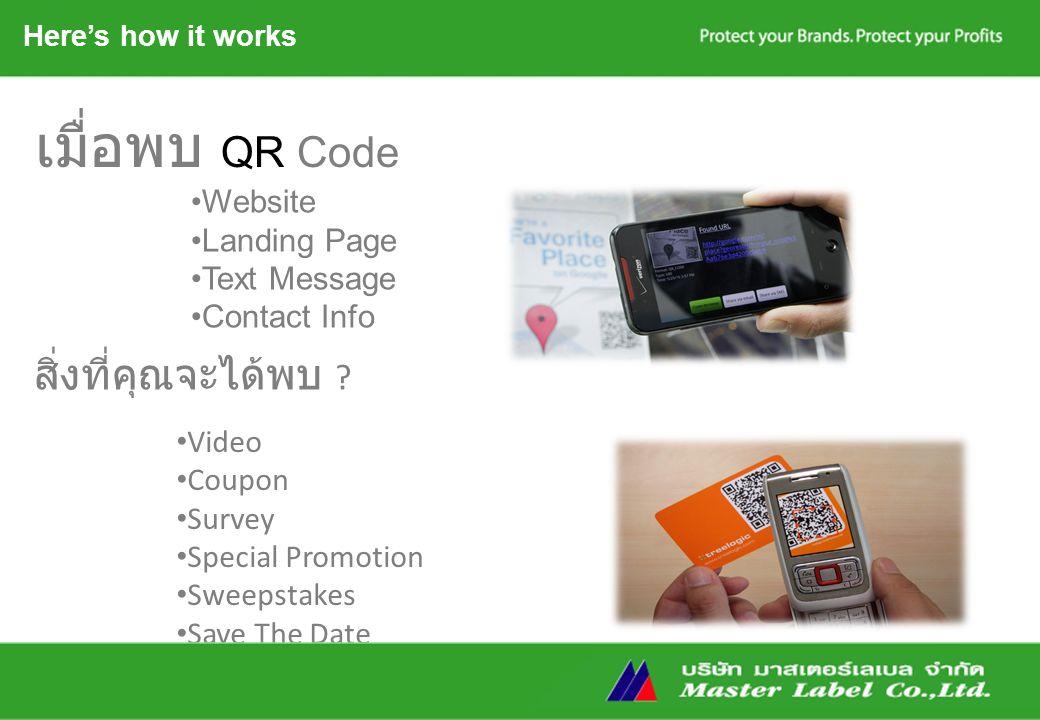 เมื่อพบ QR Code Website Landing Page Text Message Contact Info สิ่งที่คุณจะได้พบ .