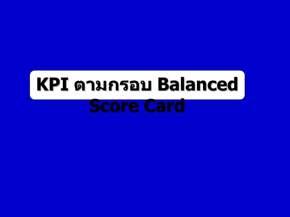 KPI ตามกรอบ Balanced Score Card