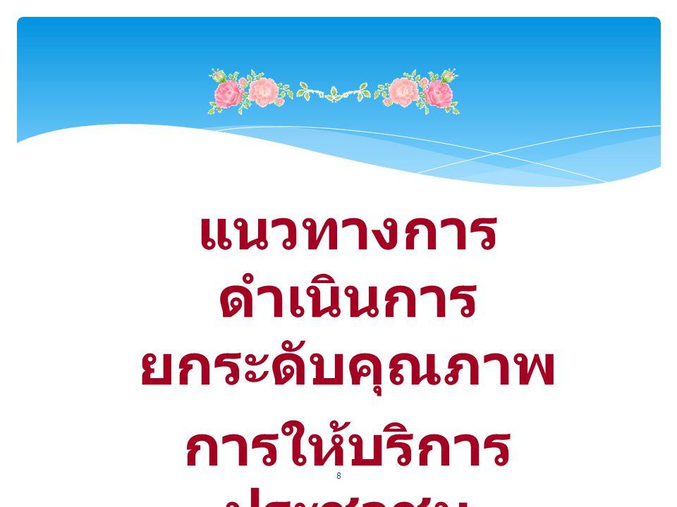 แนวทางการ ดำเนินการ ยกระดับคุณภาพ การให้บริการ ประชาชน 8
