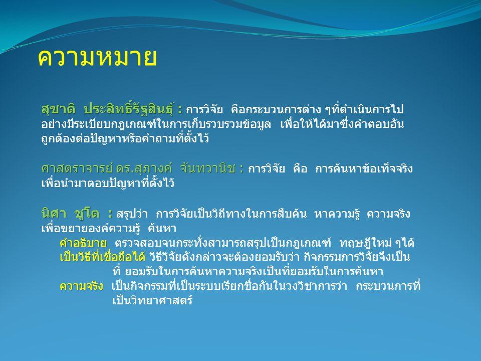 1.ดุษฎีนิพนธ์ หรือ วิทยานิพนธ์ (Dissertation or Thesis) 2.