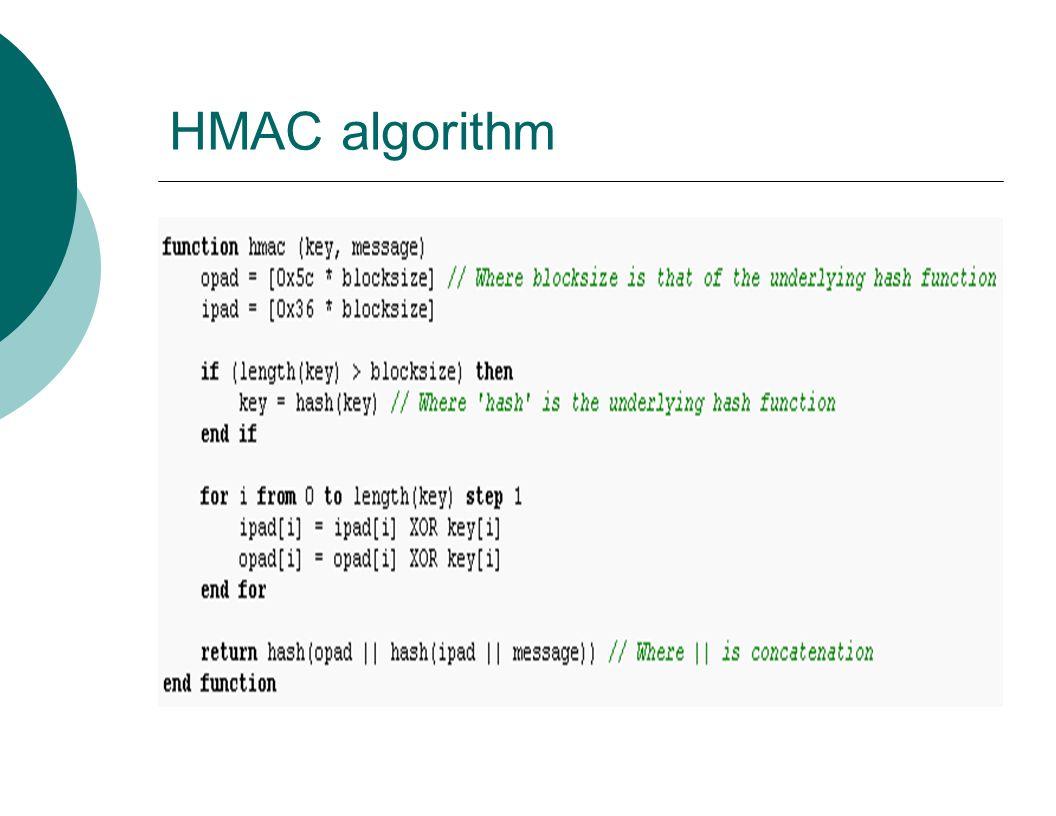HMAC algorithm