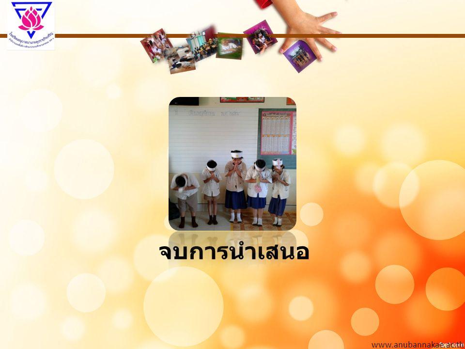 www.anubannakae.ac.th จบการนำเสนอ