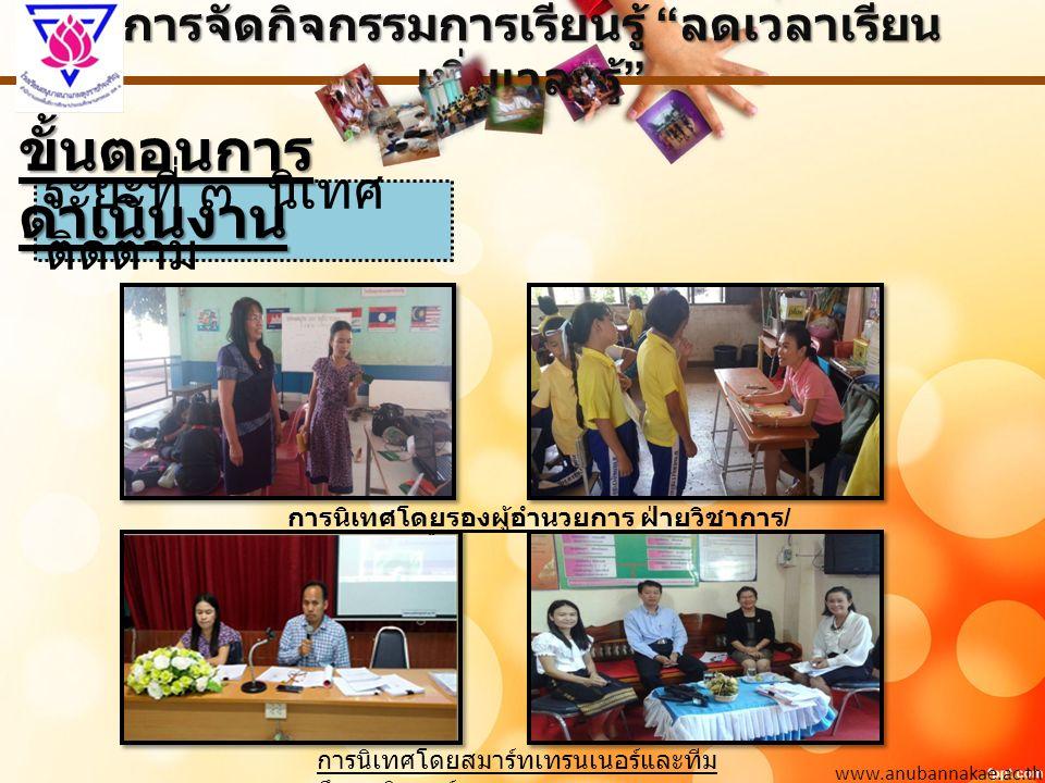 การจัดกิจกรรมการเรียนรู้ ลดเวลาเรียน เพิ่มเวลารู้ www.anubannakae.ac.th ภาพกิจกรรม / คณะครูประชุม เสวนา ทบทวนผลหลัง การปฏิบัติ (AAR) คณะครู ป.