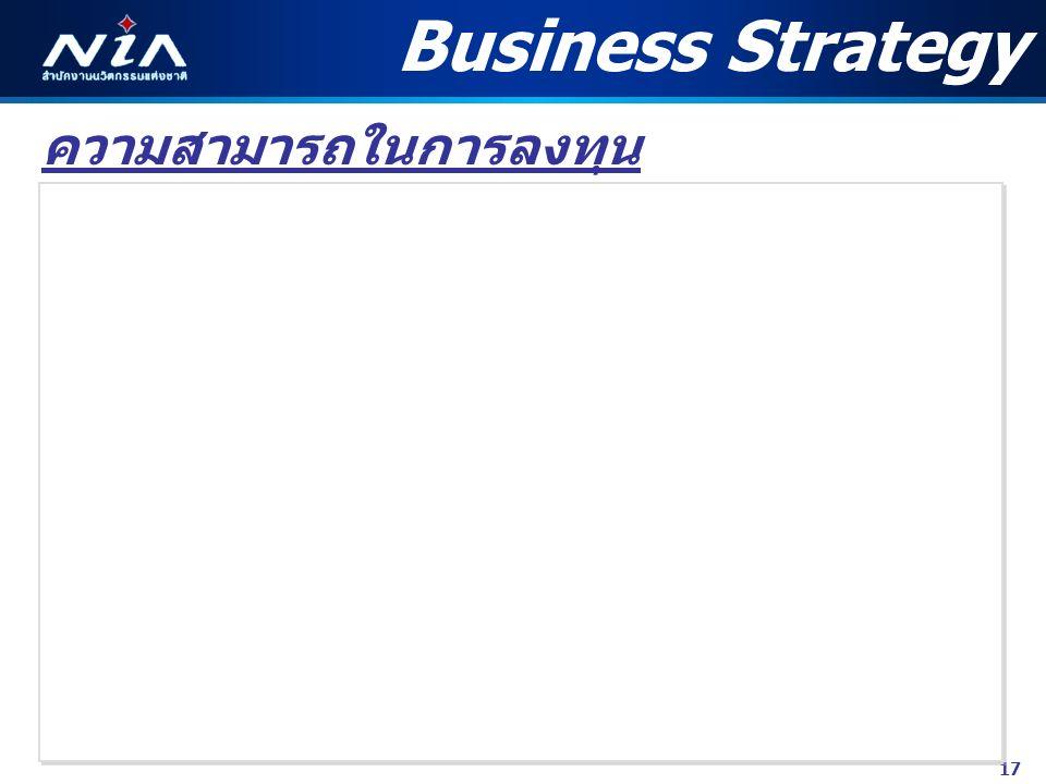 17 ความสามารถในการลงทุน Business Strategy