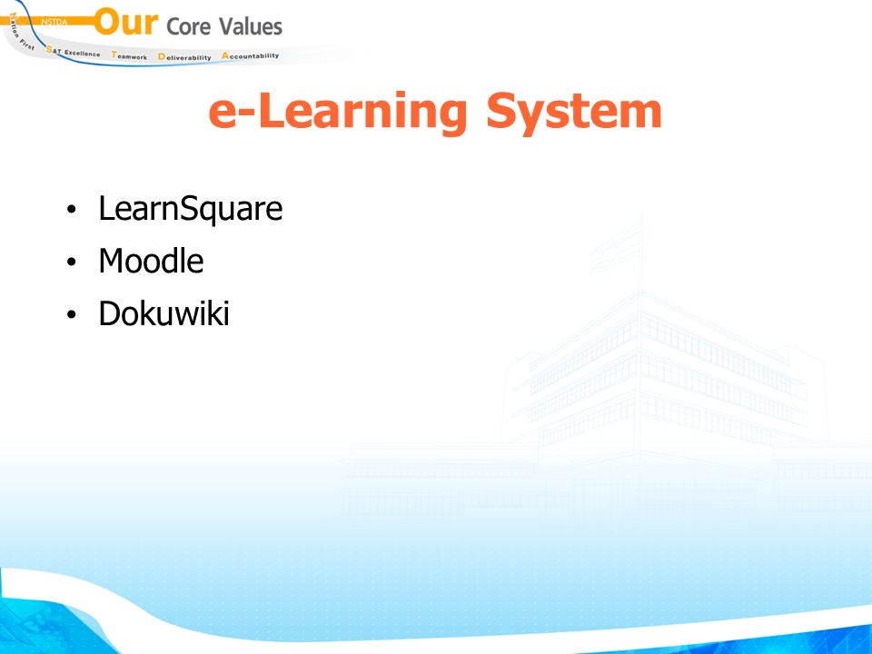 e-Learning System LearnSquare Moodle Dokuwiki