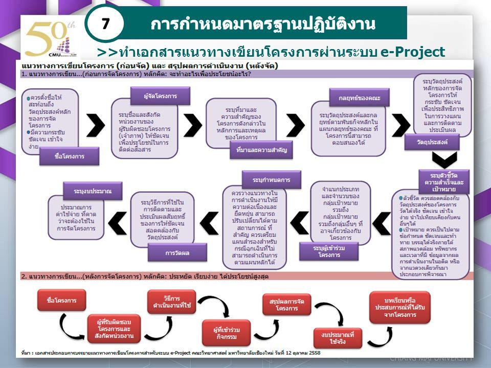 >>ทำเอกสารแนวทางเขียนโครงการผ่านระบบ e-Project