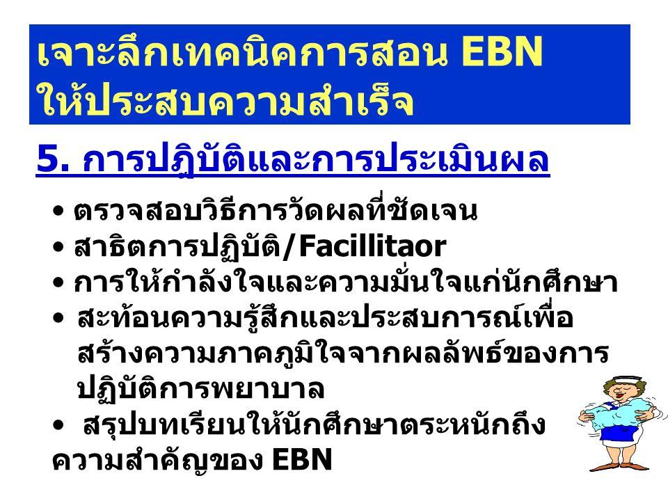 เจาะลึกเทคนิคการสอน EBN ให้ประสบความสำเร็จ 5.
