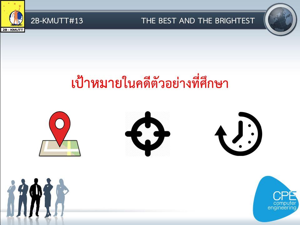 2B-KMUTT#13THE BEST AND THE BRIGHTEST เป้าหมาย ในคดีตัวอย่างที่ศึกษา