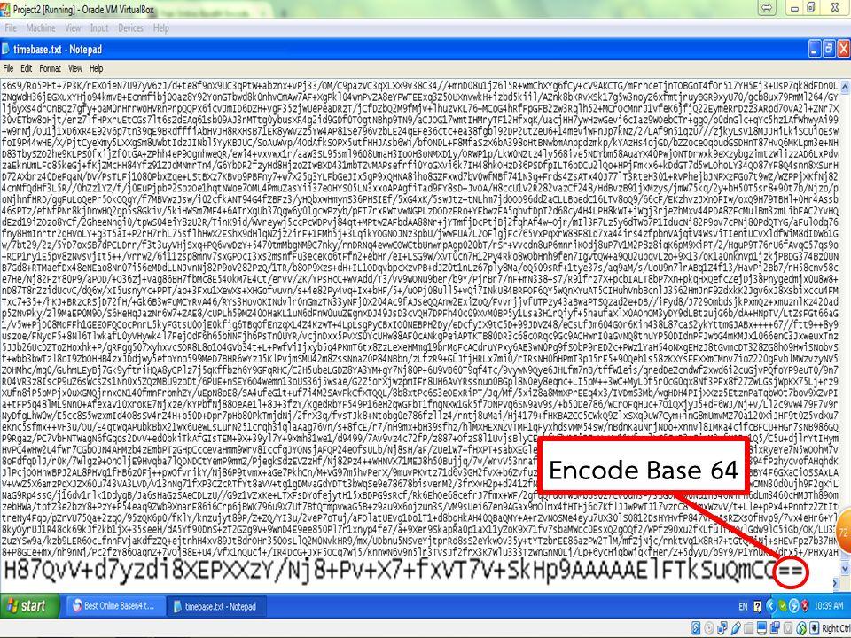 Encode Base 64