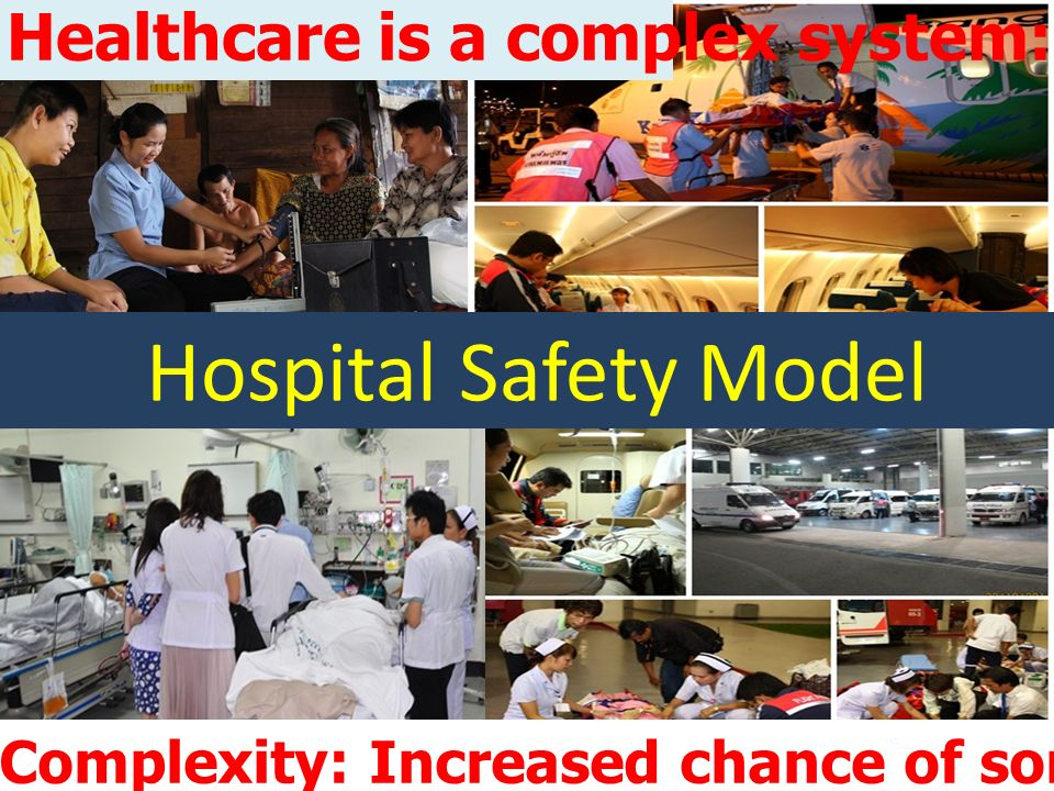13 district health services in Thailand Distribution of Safe Hospital Models Representative from Multiple of Hospital groups 148 Hospitals