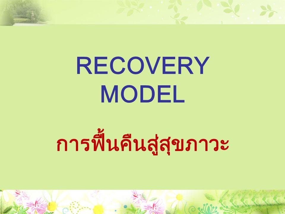 RECOVERY MODEL การฟื้นคืนสู่สุขภาวะ