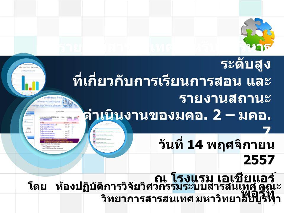 นำเสนอ EIS การผลิตบัณฑิต 12 ด้านการ ผลิตบัณฑิต