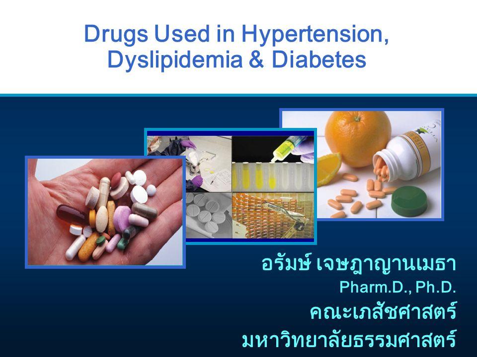 Metformin ■ Dosing - ขนาดทั่วไป 500 mg OD - 850 mg TID - แนะนำรับประทานพร้อมอาหาร เพื่อลดผลข้างเคียง ทางเดินอาหาร - เริ่มด้วย 500-1000 mg/d แล้วเพิ่มขึ้นทีละ 500 mg ทุก 3-5 วัน - ประเมินผลที่ 2 สัปดาห์