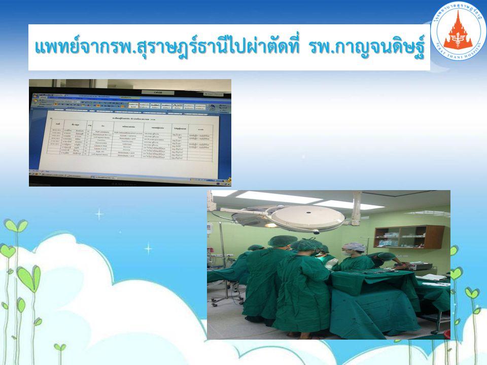 แพทย์จากรพ.สุราษฎร์ธานีไปผ่าตัดที่ รพ.กาญจนดิษฐ์