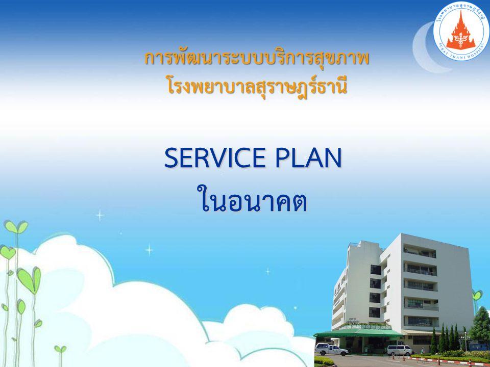 การพัฒนาระบบบริการสุขภาพโรงพยาบาลสุราษฎร์ธานี SERVICE PLAN ในอนาคต
