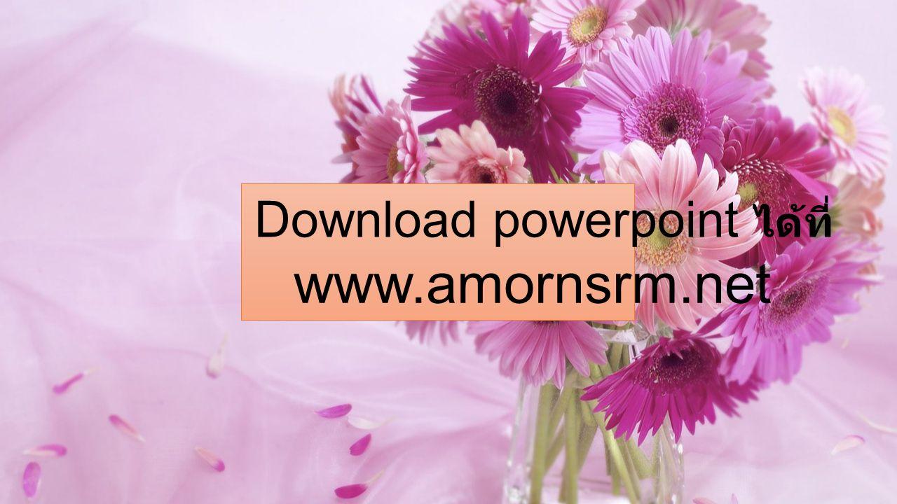 Download powerpoint ได้ที่ www.amornsrm.net