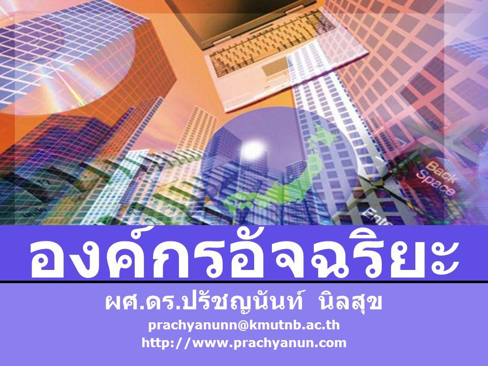 LOGO องค์กรอัจฉริยะ ผศ. ดร. ปรัชญนันท์ นิลสุข prachyanunn@kmutnb.ac.th http://www.prachyanun.com