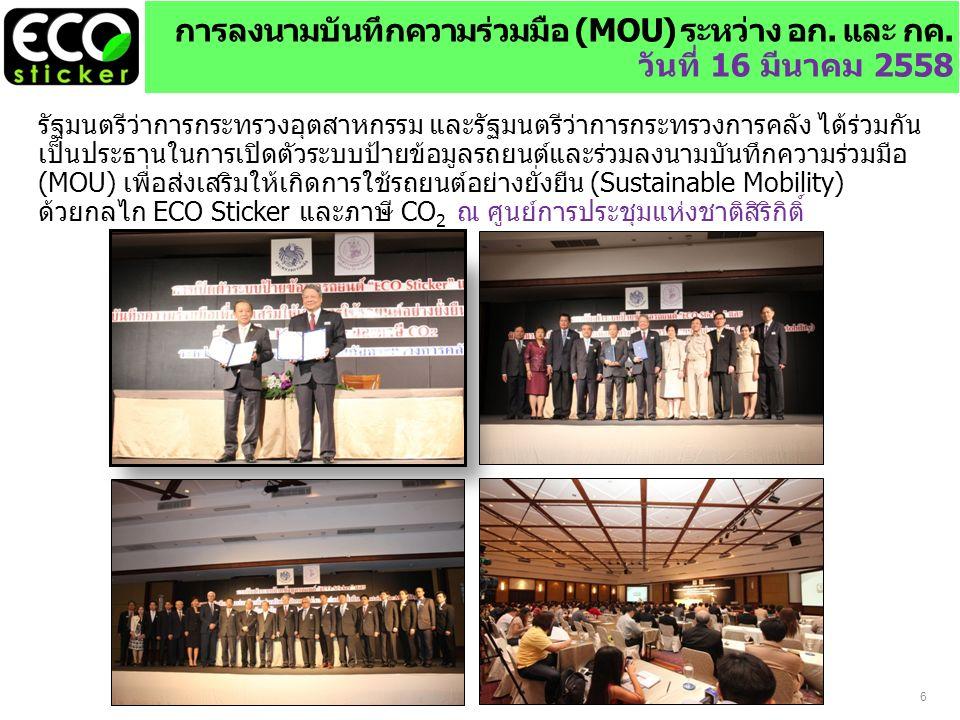 6 การลงนามบันทึกความร่วมมือ (MOU) ระหว่าง อก. และ กค.