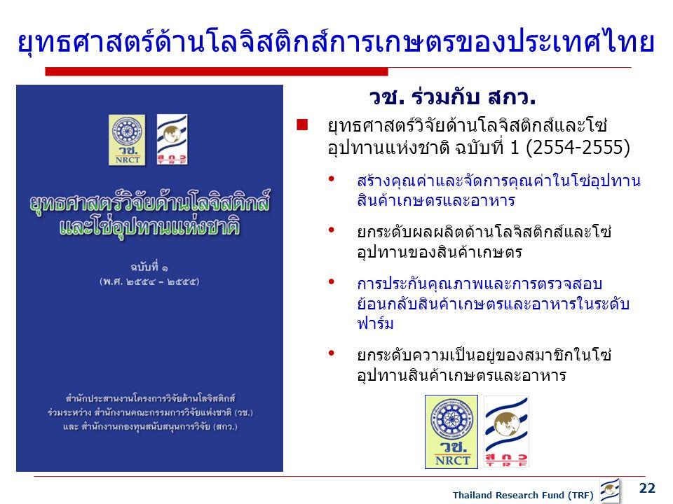 22 Thailand Research Fund (TRF) วช. ร่วมกับ สกว.