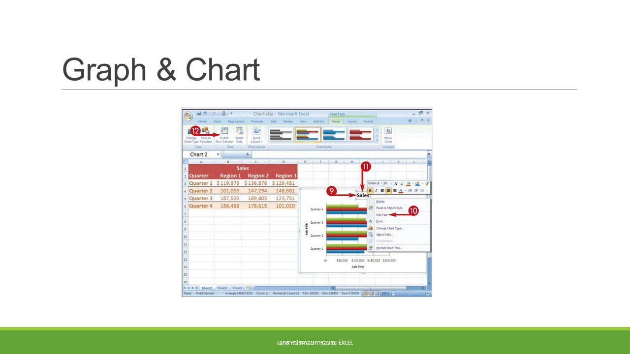 Graph & Chart เอกสารประกอบการอบรม EXCEL