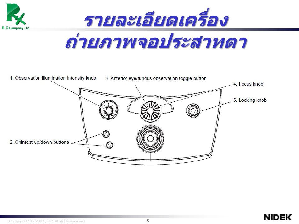 คลิกที่ New เพื่อสร้างข้อมูลที่ต้องการ Export Copyright © NIDEK CO., LTD.