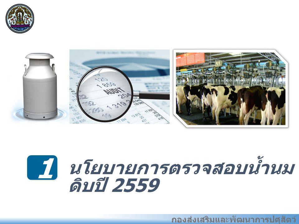 กองส่งเสริมและพัฒนาการปศุสัตว์ 1 นโยบายการตรวจสอบน้ำนม ดิบปี 2559 แนว ทางการ พัฒนา อุตสาหก รรมที่ ผ่านมา ของไทย