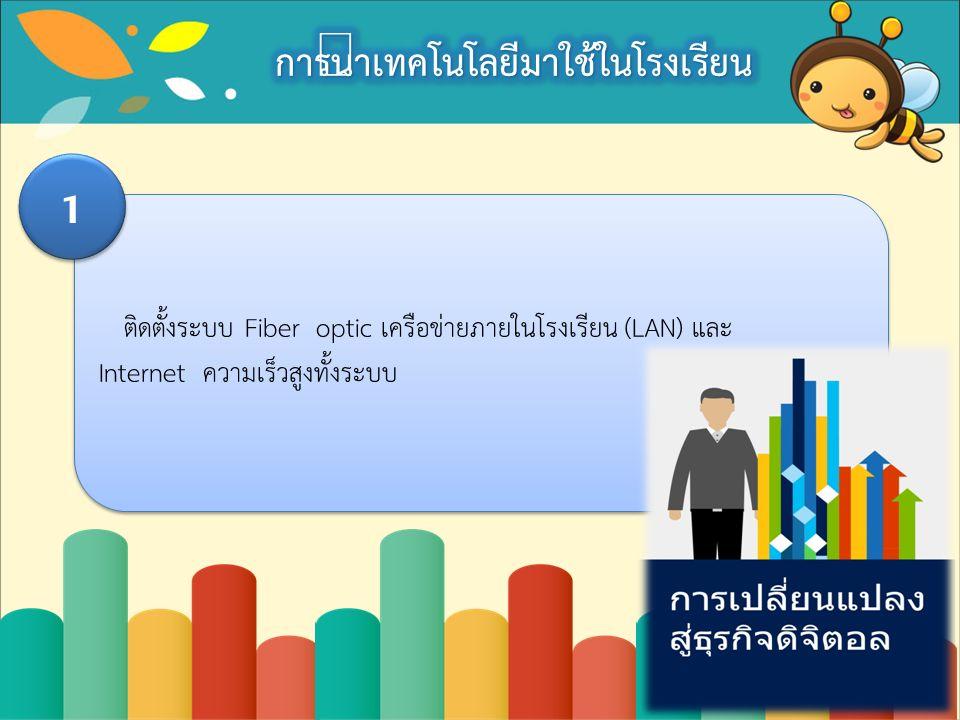 ติดตั้งระบบ Fiber optic เครือข่ายภายในโรงเรียน (LAN) และ Internet ความเร็วสูงทั้งระบบ 1 1