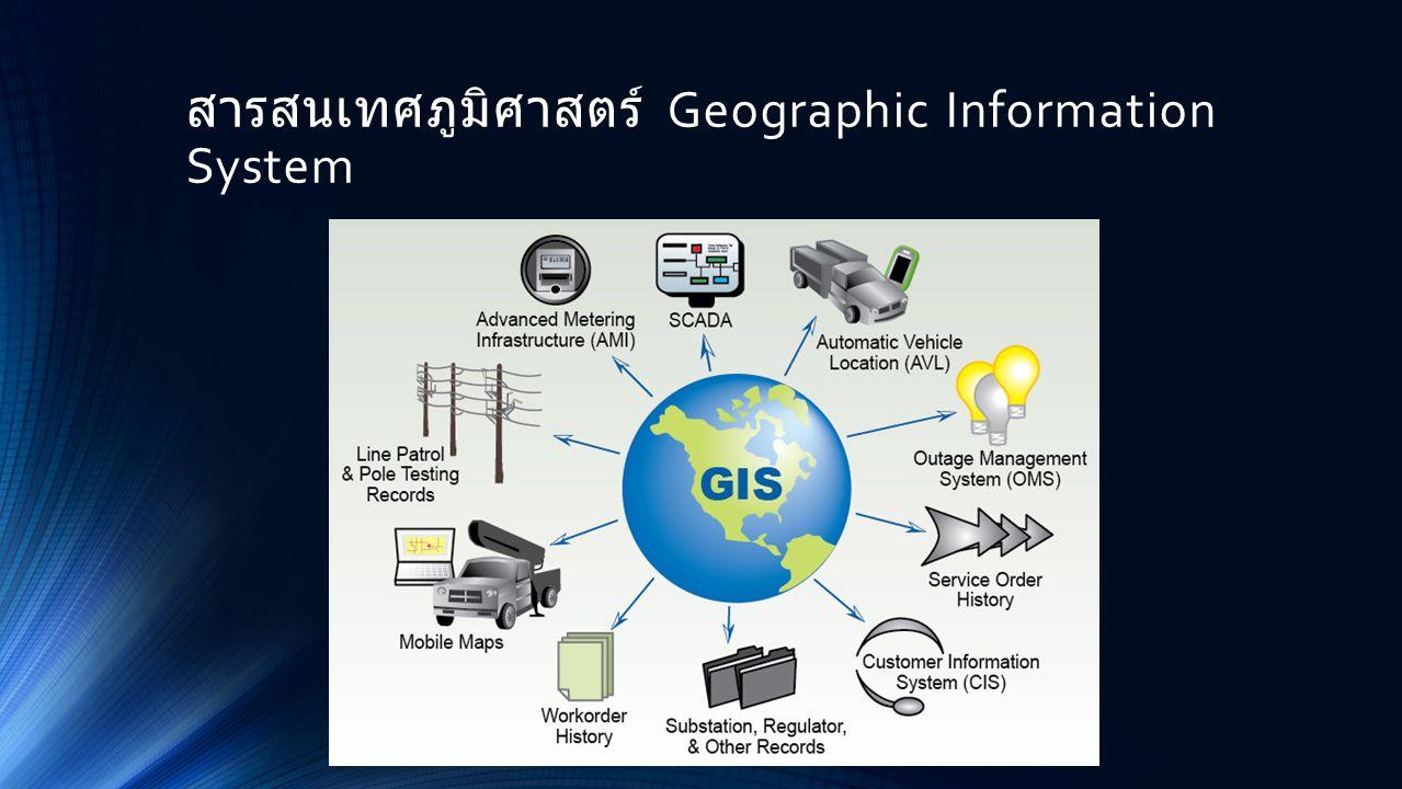 สารสนเทศภูมิศาสตร์ Geographic Information System