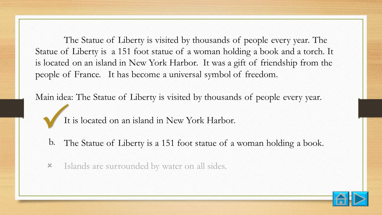 The Statue of Liberty is visited by thousands of people every year.