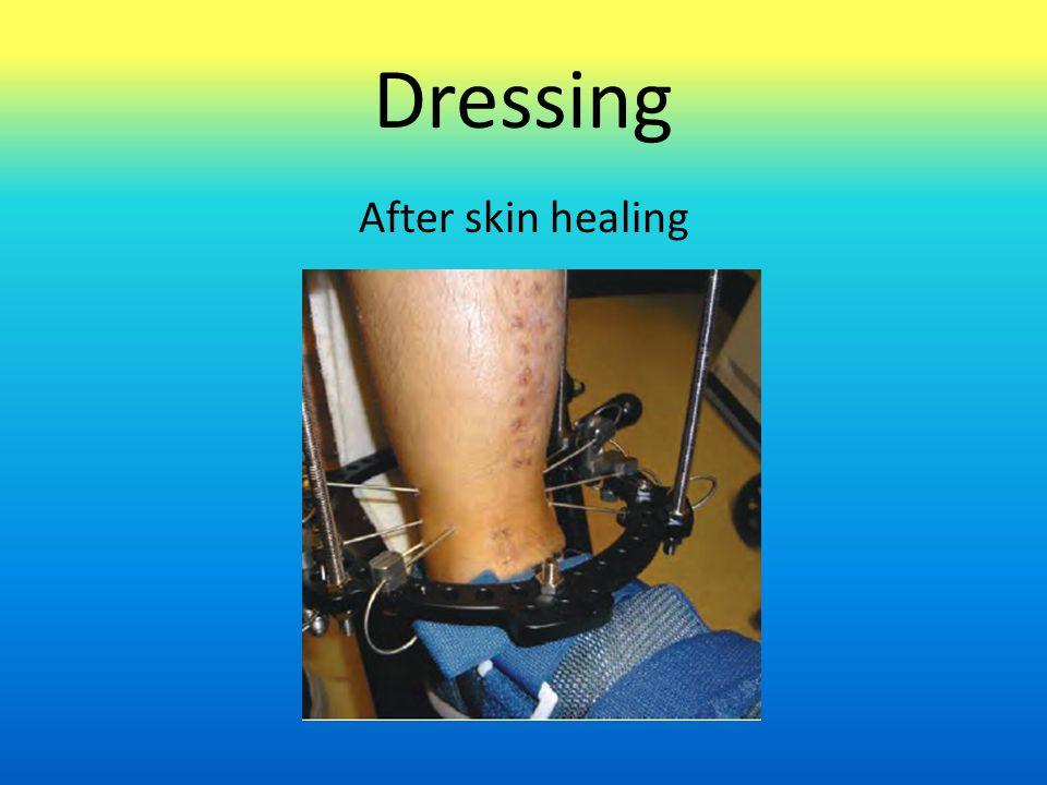 Dressing After skin healing