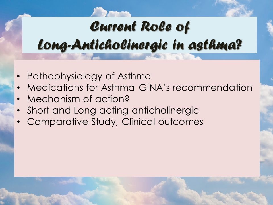 Pathophysiology of Asthma Medications for Asthma GINA's recommendation Mechanism of action.