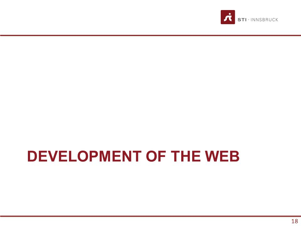 18 DEVELOPMENT OF THE WEB