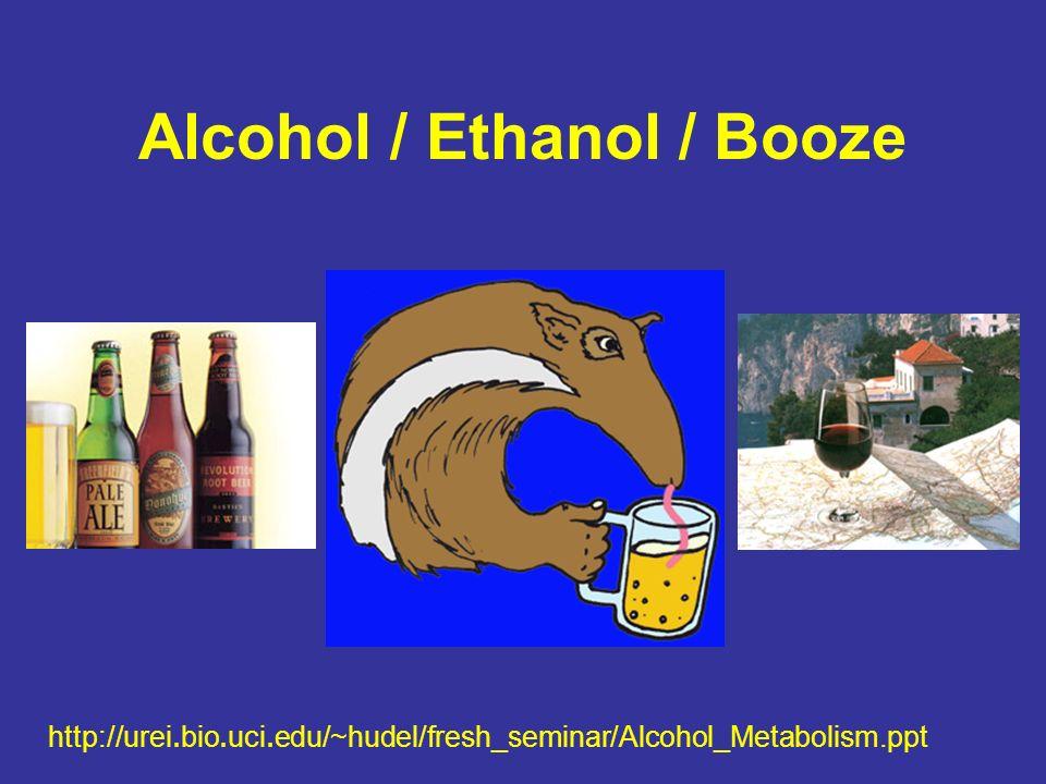 Alcohol / Ethanol / Booze http://urei.bio.uci.edu/~hudel/fresh_seminar/Alcohol_Metabolism.ppt