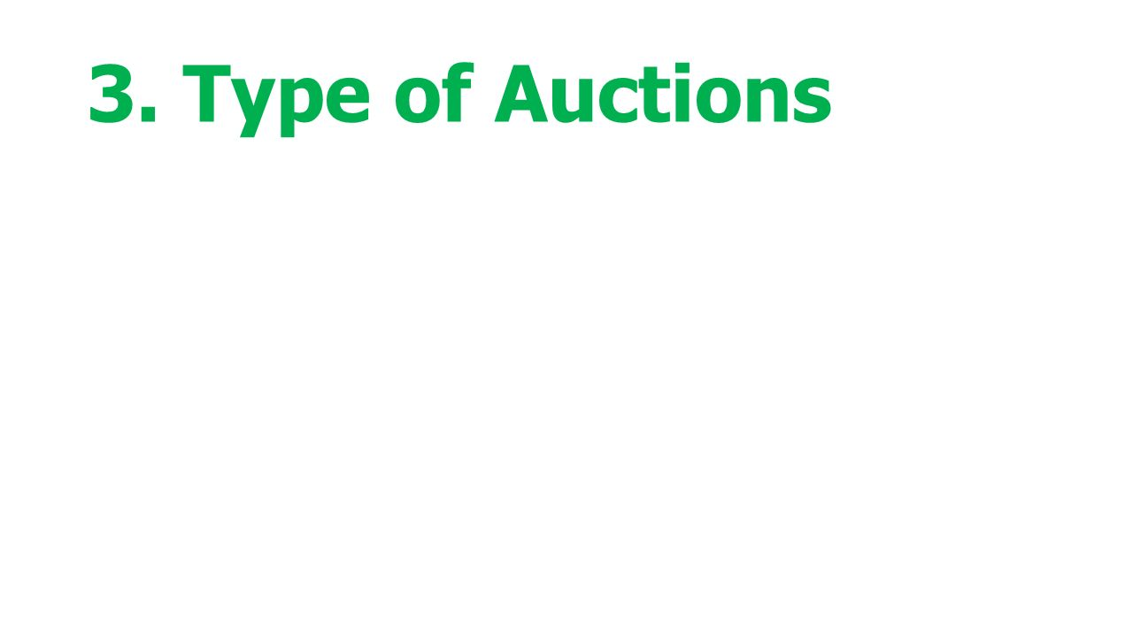 3. Type of Auctions