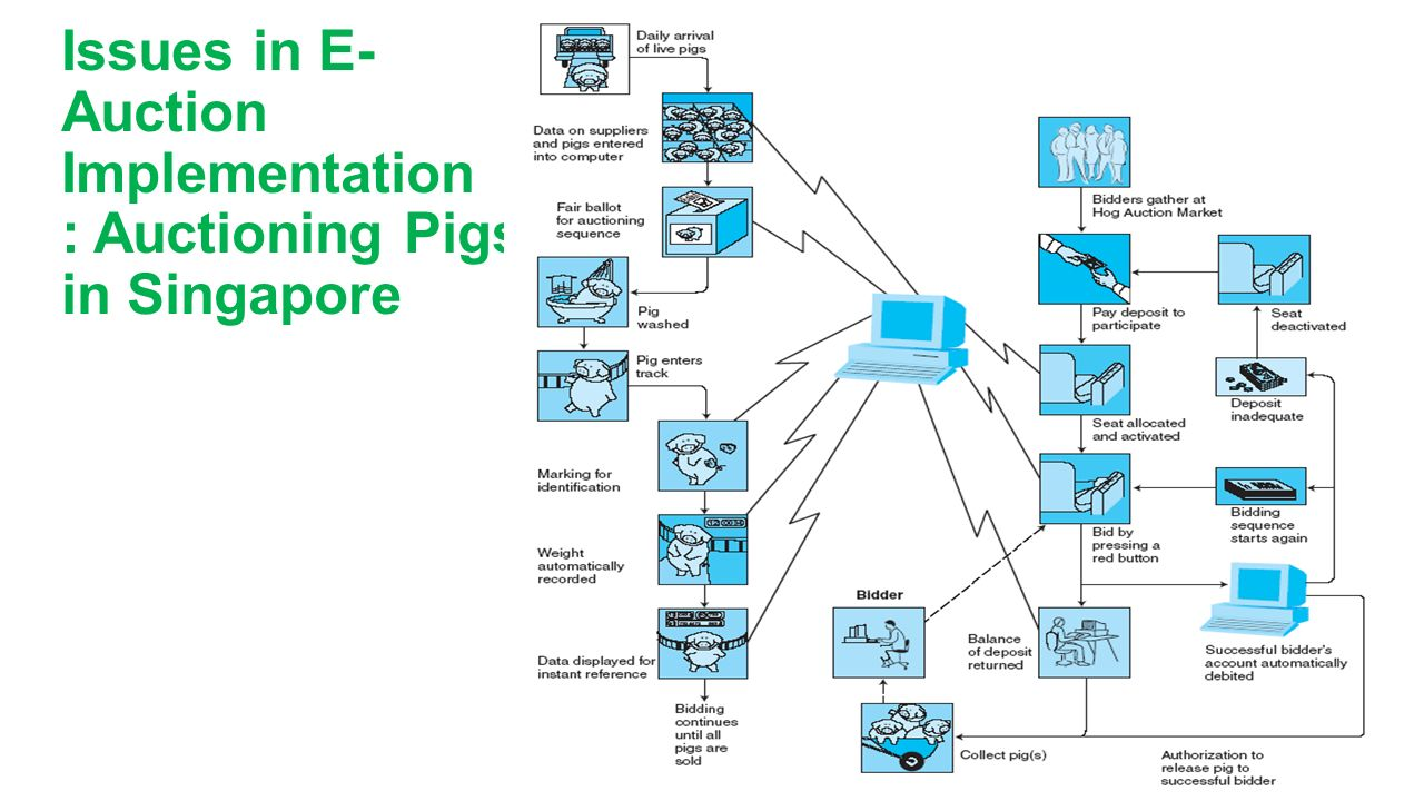 Issues in E- Auction Implementation : Auctioning Pigs in Singapore