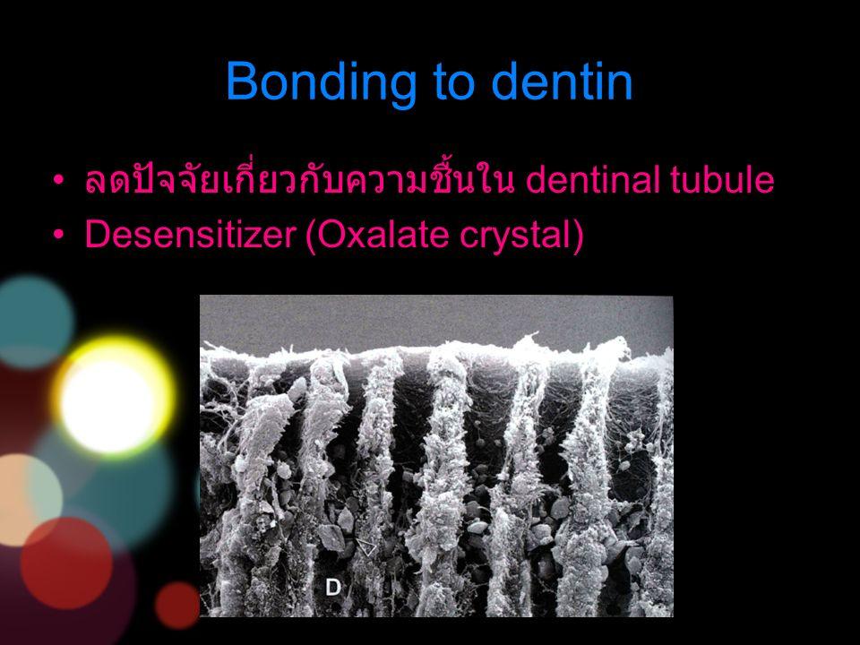 ลดปัจจัยเกี่ยวกับความชื้นใน dentinal tubule Desensitizer (Oxalate crystal)