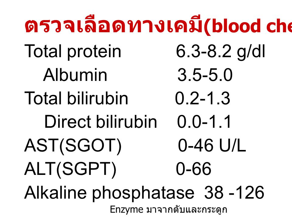 LIPID PROFILE ( ไขมันในเลือด ) Total Cholesterol < 200 mg/dl Triglyceride < 150 mg/dl HDL – cholesterol M > 35, F > 45 LDL – cholesterol < 150 mg/dl วิธีคำนวน VLDL is in next slide Blood sugar F65-105, M75-110