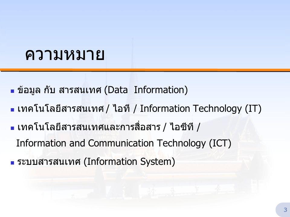 ระบบสารสนเทศสำหรับผู้บริหาร กรมอุตสาหกรรมพื้นฐานและการเหมืองแร่ ๓-๔ และ ๖ พฤษภาคม ๒๕๔๗ 24 นโยบาย IT2000 * * http://www.nitc.go.th/itpolicy.html