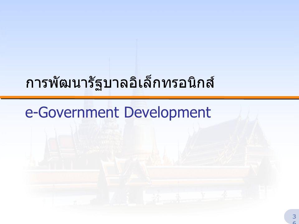 36 การพัฒนารัฐบาลอิเล็กทรอนิกส์ e-Government Development
