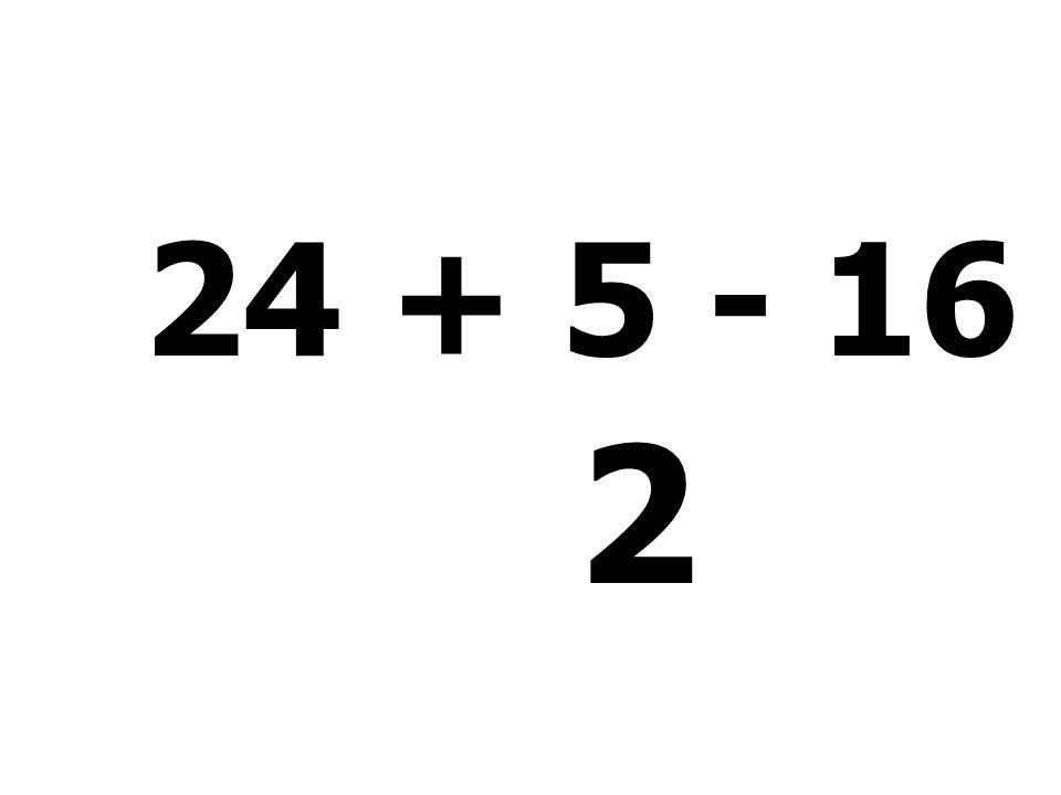 26 - 10 + 52 - 3 = 65